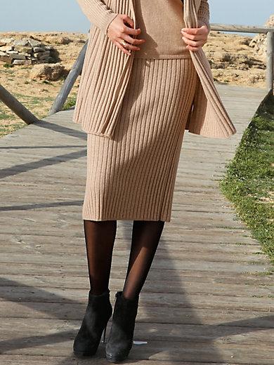Peter Hahn Cashmere - Stickad kjol i ren kashmir